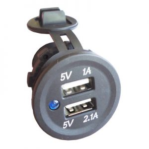 USB 3.1A 12V/24V Vout: 5V + Cover + Std Nut