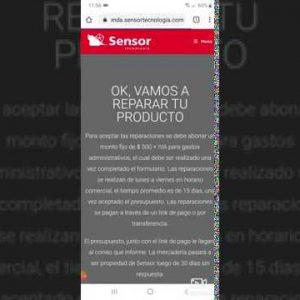 Tutorial Reparación de Productos en Tienda Online Sensor